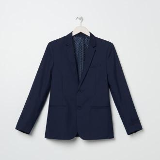 Sinsay - Marynarka slim fit w kratę - Niebieski