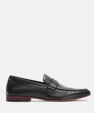 Czarne loafersy męskie