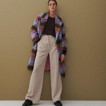 Reserved - Eleganckie spodnie z kantem - Beżowy