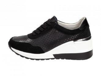 Czarne sneakersy damskie S.BARSKI 97799