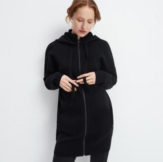 Mohito - Długi sweter z kapturem - Czarny