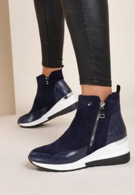 Niebieskie Sneakersy Yserith