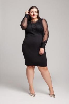 SUSIE BLACK karnawałowa sukienka plus size : Rozmiar - 48