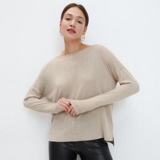 Mohito - Gładki sweter Eco Aware - Beżowy