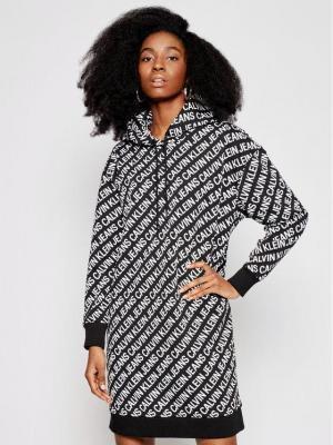 Calvin Klein Jeans Sukienka dzianinowa J20J216187 Czarny Oversize