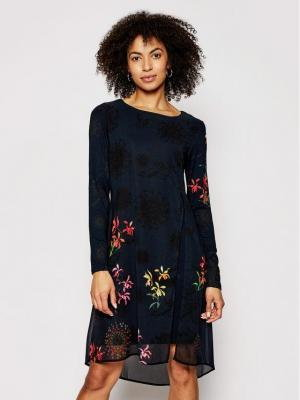 Desigual Sukienka codzienna Gabrielle 21SWVWAT Czarny Regular Fit