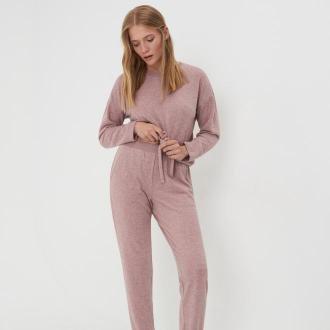 Sinsay - Piżama dwuczęściowa - Różowy
