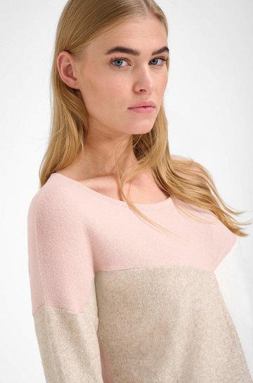 Miękki sweter w bloki kolorów