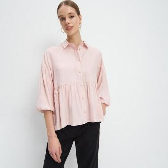 Mohito - Koszula z falbanką - Różowy