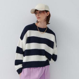 House - Luźny sweter w pasy - Paski