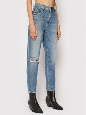 Pepe Jeans Jeansy Violet Scribble PL204138 Niebieski Relaxed Fit