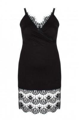 MUNA BLACK koszula nocna plus size : size - 60/62