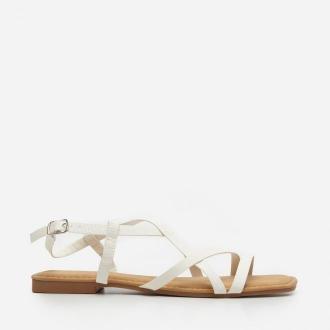 House - Sandały z cienkimi paskami - Biały