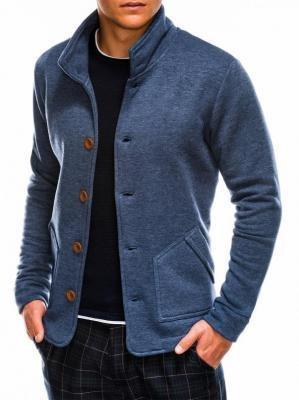 Bluza męska rozpinana bez kaptura CARMELO - jeansowa - S
