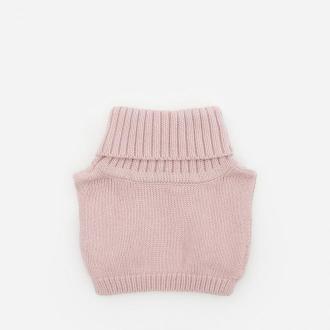 Reserved - Dzianinowy szalik/golf z bawełny - Różowy