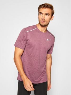 Nike Koszulka techniczna Rise 365 AQ9919 Bordowy Standard Fit