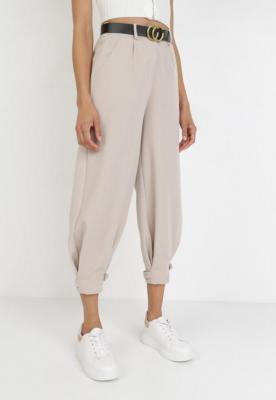 Jasnobeżowe Spodnie Tryxsha