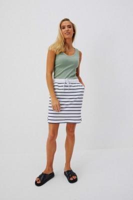 Dresowa spódnica z kieszeniami