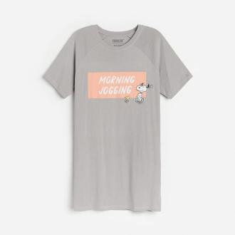 Reserved - Koszula nocna Snoopy - Szary