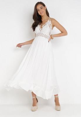 Biała Sukienka Coridoe