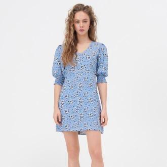 Sinsay - Sukienka mini w kwiaty - Wielobarwny