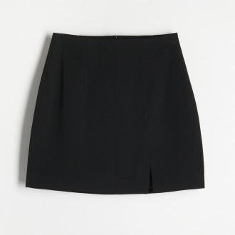 Reserved - Gładka spódnica mini - Czarny