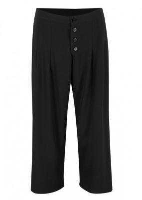 Spodnie culotte, dł. do łydki bonprix czarny