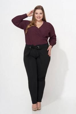 CHARLIE BLACK wiązane spodnie plus size : size - 42