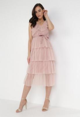 Różowa Sukienka Hicine