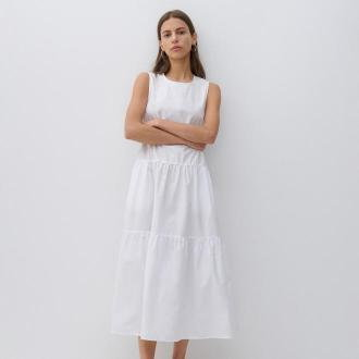 Reserved - Bawełniana sukienka - Biały