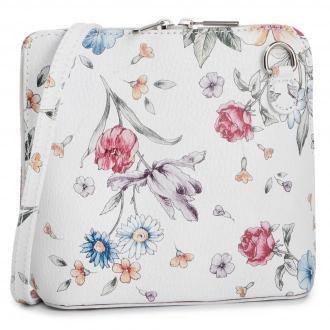 Torebka CREOLE - K10636 Biały Kwiaty