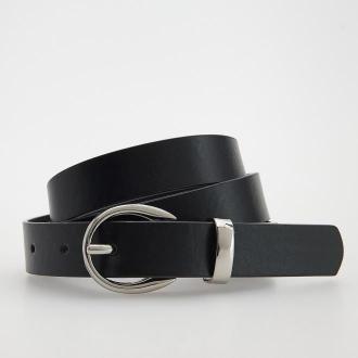 Reserved - Pasek z imitacji skóry - Czarny