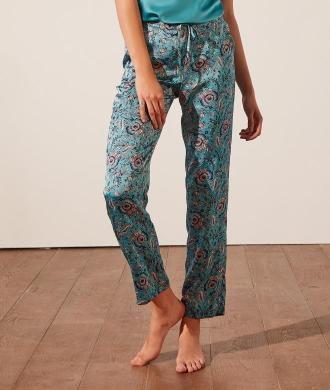 Bahiya Pantalon De Pyjama Imprimé - Xl - Niebieski - Etam
