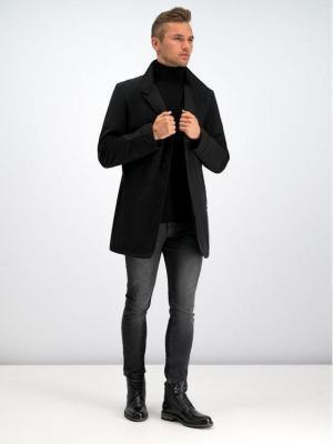 Strellson Płaszcz przejściowy 30017539 Czarny Regular Fit