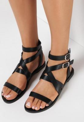 Czarne Sandały Noedah