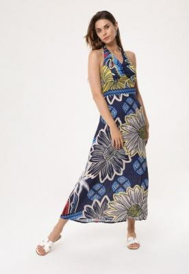 Granatowa Sukienka Prevaricate