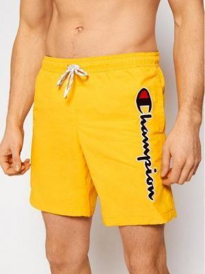 Champion Szorty kąpielowe Satin Script Logo Board 214428 Żółty Board Fit