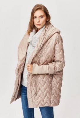 Ocieplana kurtka z ozdobnym pikowaniem