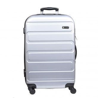 walizka średnia Słoń Torbalski Alexa 64 cm srebrna