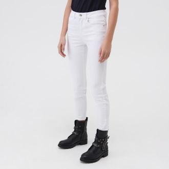 Sinsay - Jeansy skinny push-up - Biały