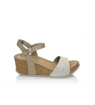 Beżowe sandały damskie : Rozmiar - 36