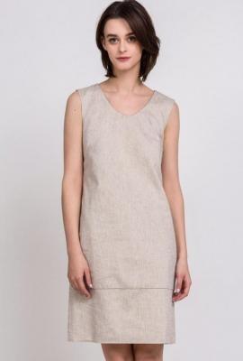 Lniana, wizytowa sukienka