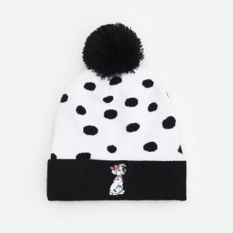 Reserved - Dzianinowa czapka 101 dalmatyńczyków - Czarny