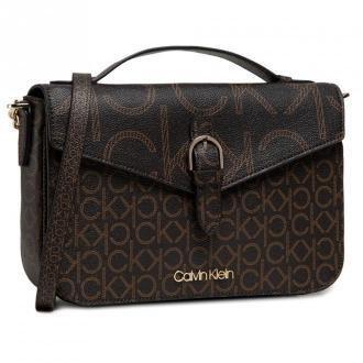 Torebka CALVIN KLEIN - Shoulder Bag W/Top H Mono Scl K60K6076720 0HD