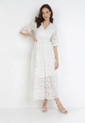 Biała Sukienka Pirephise