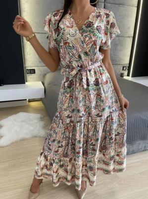 Orientalna Sukienka Maxi 6232-401