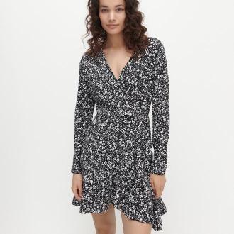 Reserved - Sukienka z kopertowym dekoltem - Wielobarwny