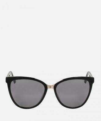 Czarne okulary przeciwsłoneczne damskie
