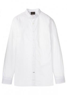 Koszula garniturowa ze stójką, Slim Fit bonprix biały