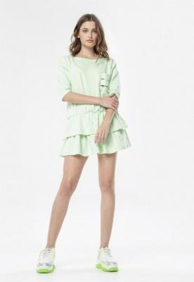 Limonkowa Sukienka Lorene